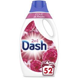 Dash Dash Lessive liquide coup de foudre 52lavages La bouteille de lessive de 2.6l
