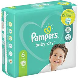 Pampers Pampers Couches baby-dry taille 6, 13-18kg Le paquet de 34 couches