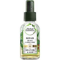 Pure, huile capillaire à l'huile d'argan et aloe