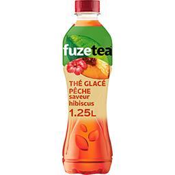 Fuze Tea Fuzetea Boisson thé noir glacé saveur pêche saveur hibiscus la bouteille de 1,25 l
