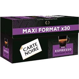 Carte Noire Carte Noire Capsules de café moulu Espresso Puissant la boite de 30 - 159 g - Maxi Format