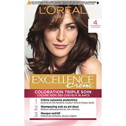 L'Oréal L'Oréal Excellence Crème - Crème colorante triple soin châtain 4 la boite