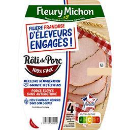 Fleury Michon Fleury Michon Rôti de porc cuit - filière française d'éleveurs engagés la barquette de 4 tranches - 140g