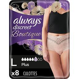 Always Always Discreet Culottes fuites urinaires taille L - Boutique le paquet de 8