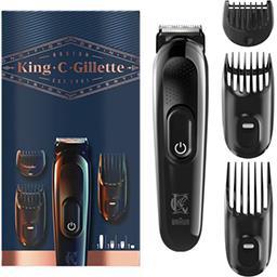 Gillette King C Gillette Kit tondeuse à barbe sans fil pour homme La tondeuse + 3 accessoires