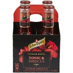 Schweppes Schweppes Boisson gazeuse saveur hibiscus les 4 bouteilles de 20cl - 80cl