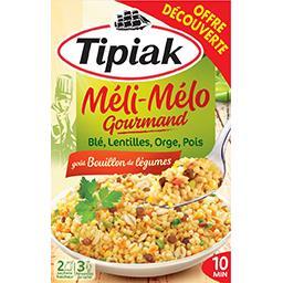 Tipiak Tipiak Méli-Mélo gourmand goût bouillon de légumes les 2 sachets de 165 g