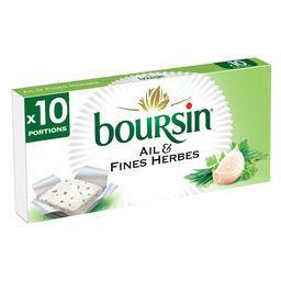 Boursin Boursin Fromage à tartiner ail & fines herbes les 10 portions de 16 g