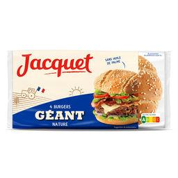 Jacquet Jacquet Pain Burger géant nature le paquet de 4 - 330 g