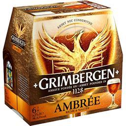 Grimbergen Grimbergen Ambrée - Bière d'Abbaye le pack de 6x25cl