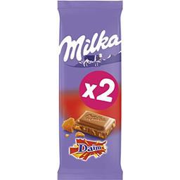 Milka Milka Chocolat au lait Daim les 2 tablettes de 100 g