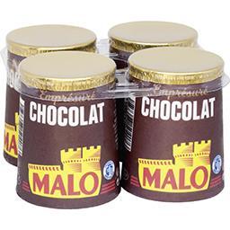 Malo Malo Emprésuré chocolat les 4 pots de 125 g