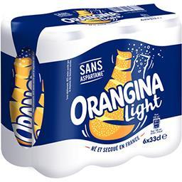 Orangina Orangina Light - Soda aux fruits les 6 canettes de 33 cl
