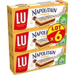 LU LU Napolitain - Gâteau L'Original le lot de 6 boites de 180 g