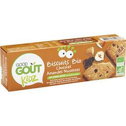 Good Goût Good Goût Kidz Biscuits Bio au chocolat, amandes et noisettes le paquet de 110g