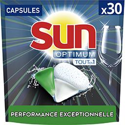 Sun Sun Capsules lave-vaisselle optimum tout en 1 citron bergamote le paquet de 30 capsules