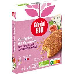 Céréal Bio Céréal Bio Galettes céréales boulghour de blé roquefort figues BIO les 2 galettes de 100 g