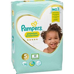 Pampers Pampers Couches Premium Protection, taille 5 : 11-23 kg le paquet de 20