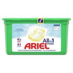 Ariel Ariel Lessive en capsules allin1 pods sensitive La boite de 31 capsules
