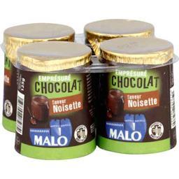Malo Malo Emprésuré chocolat saveur noisette les 4 pots de 125 g - 500 g