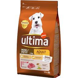 Ultima Ultima croquettes pour chien mini adulte bœuf le sac de 1,5 kg