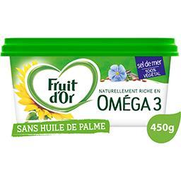 Fruit d'Or Fruit d'Or Margarine oméga 3 sans huile de palme sel de mer la barquette de 450 g