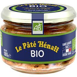 Henaff Hénaff Pâté pur porc BIO Le bocal de 180g