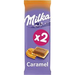 Milka Milka Chocolat caramel les 2 tablettes de 100 g