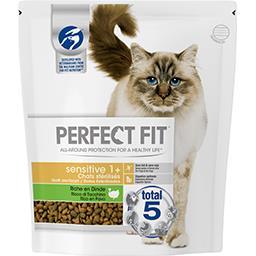 Perfect Fit Perfect fit Croquettes riche en dinde Sensitive 1+ pour chats stérilisés le sac de 1,4 kg
