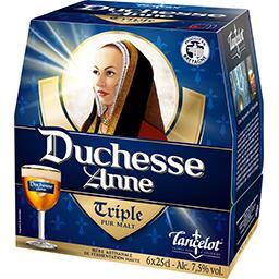 Brasserie Lancelot Lancelot Bière Triple Duchesse Anne les 6 bouteilles de 25 cl