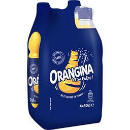 Orangina Orangina Soda aux fruits et sa pulpe les 4 bouteilles de 50 cl