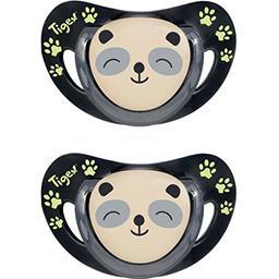 Tigex Tigex %%sucette silicone panda L'unité