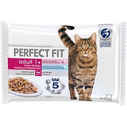 Perfect Fit Perfect fit Pâtée en sauce aux poissons pour chats stérilisés Adult 1+ les 4 sachets de 85 g