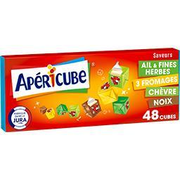 Apéricube Apéricube Fromage fondu apéritif tonic la boite de 48 cubes - 250 g