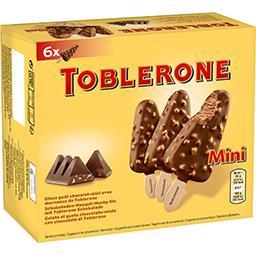 Toblerone Toblerone Mini bâtonnets de glace goût chocolat miel avec morceaux la boite de 6 - 300 ml