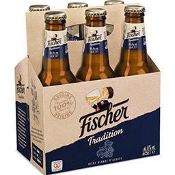 Fischer Fischer Bière blonde Tradition les 6 bouteilles de 25 cl