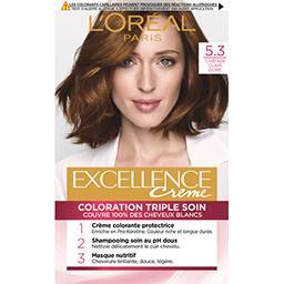 L'Oréal L'Oréal Paris Excellence Crème - Crème colorante triple soin châtain clair doré 5.3 la boite