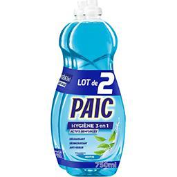 Paic  Paic Hygiène 3en1 - Liquide vaisselle menthe le lot de 2 flacons de 750 ml