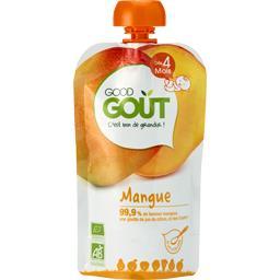Good Goût Good Goût Compote mangue BIO, dès 4 mois la gourde de 120 g