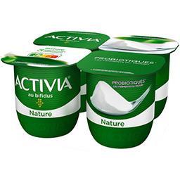Danone ACTIVIA Lait fermenté nature au bifidus les 4 pots de 125 g