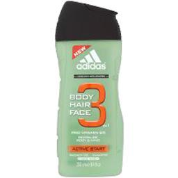 Adidas Adidas Body Hair Face 3 - Gel douche Active Start le flacon de 250 ml