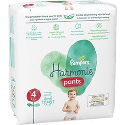 Pampers Pampers Couches-culottes harmonie, pants taille 4, 9kg-14kg Le paquet de 24 couches
