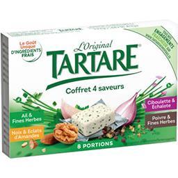 Tartare Tartare Fromages aromatisés Coffret 4 saveurs les 8 portions de 16,63 g