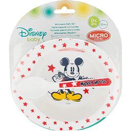 Walt Disney Disney Baby - Vaisselle spécial micro-ondes Mickey Mouse, dès 10 mois l'assiette + la cuillère
