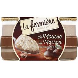 La Fermière La Fermière La Mousse au Marron sur lit de crème de marron les 2 pots de 100 g