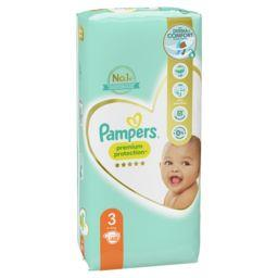 Pampers Pampers Couches Premium Protection taille3 6kg-10kg Le paquet de 50 couches