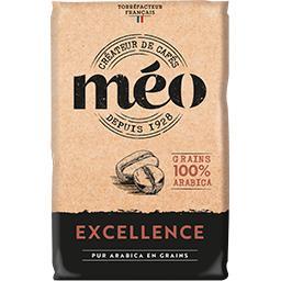 Excellence Méo Café en grain Excellence 100% arabica le paquet de 1 kg