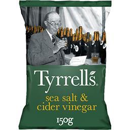 Tyrrell's Tyrrell's Chips au sel de mer et vinaigre de cidre le sachet de 150 g
