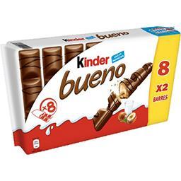 Kinder Kinder Bueno - Barres chocolatées fourrées lait et noisettes les 8 barres de 43 g