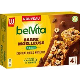 LU LU Belvita - Barre moelleuse chocolat noir & noisettes la boite de 4 - 160 g